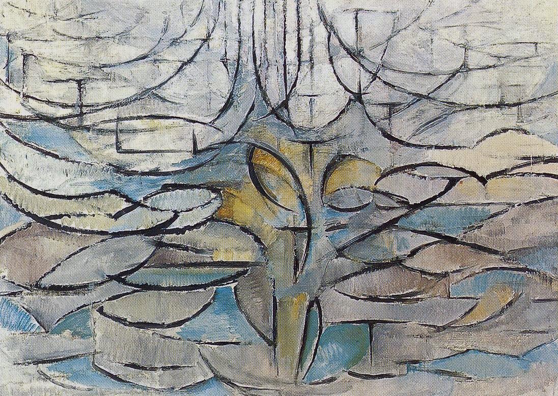 Piet Mondrian - Rozkvetlá jabloň